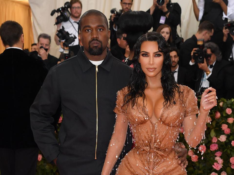 Kim Kardashian and Kanye West at the 2019 Met Gala.