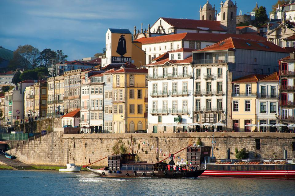 City Porto (Oporto) at Rio Douro. The old town is listed as UNESCO world heritage. Portugal. Europe