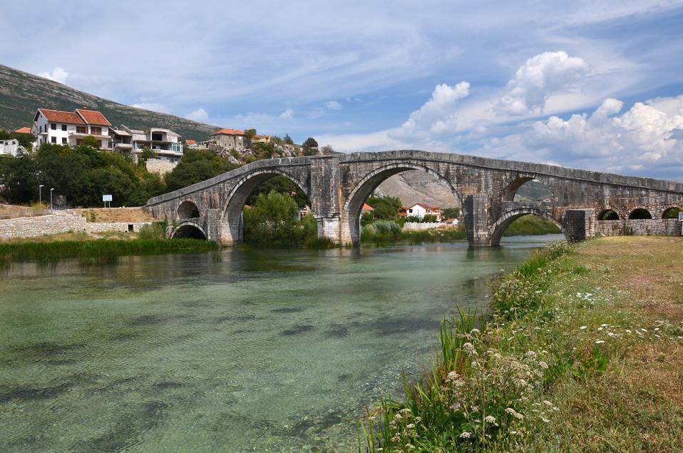 The Arsianagic bridge Trebinje. Bosnia and Herzegovina.