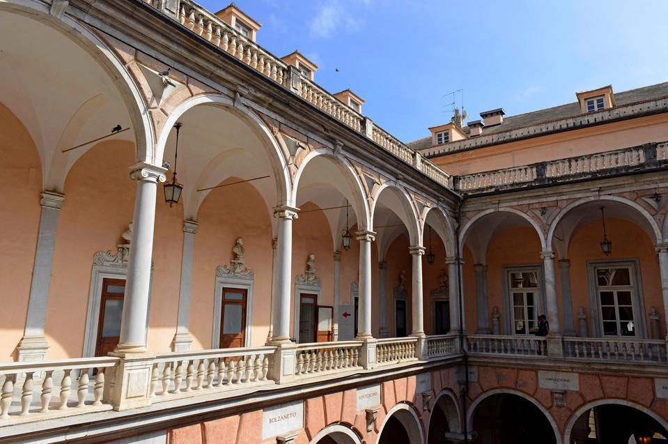 Palazzo Tursi on Via Garibaldi - one  of the Rolli Palaces.