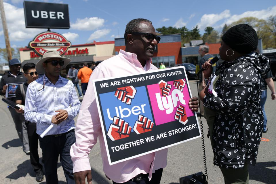Uber And Lyft Drivers Launch Strike To Protest Pay And Job Security