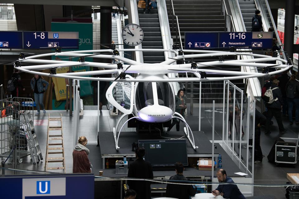 Air taxi ″Volocopter″ in the main station