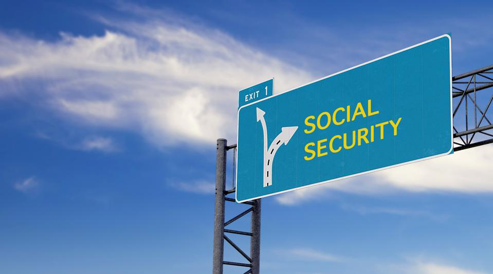 high way sign with motivation, warning or advice message about social security