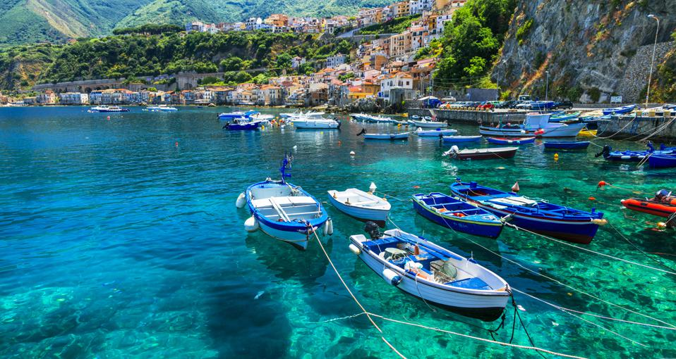 Scilla with traditional fishing boats.