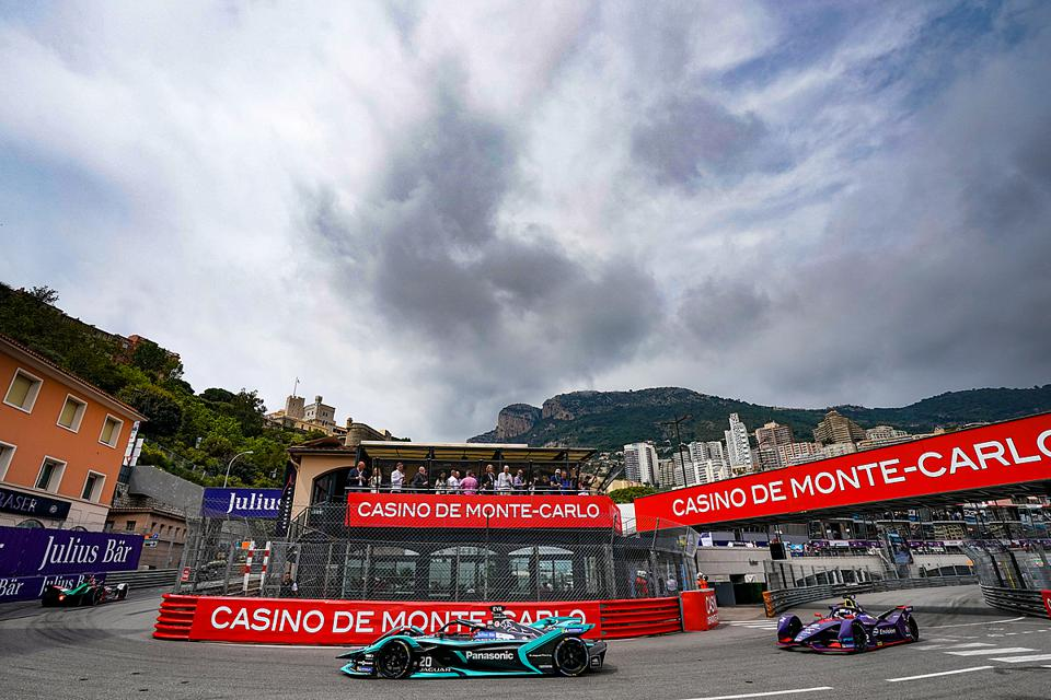 Formula E races on part of F1's historic Monaco Grand Prix circuit every other year (Panasonic Jaguar Racing via Getty Images)