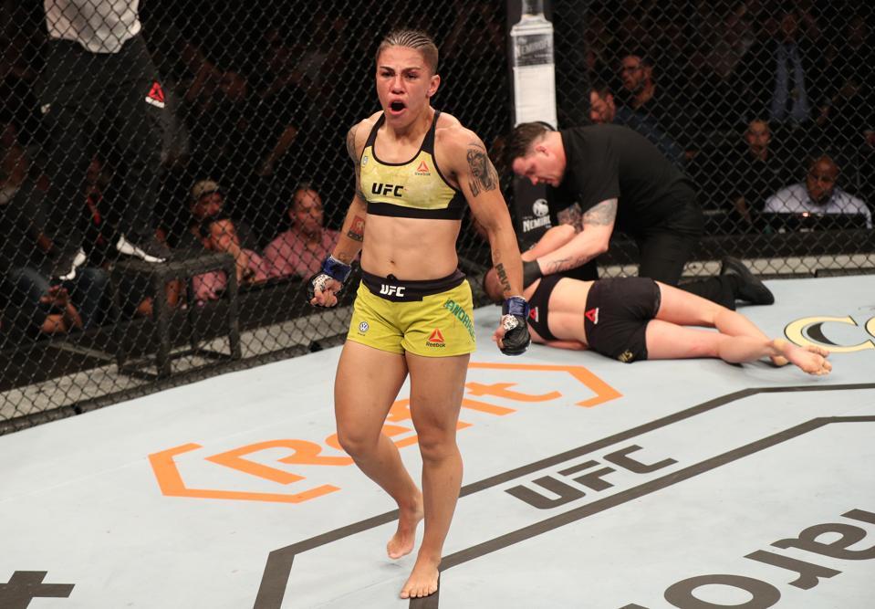Jessica Andrade faces Rose Namajunas on the UFC 251 pay-per-view card
