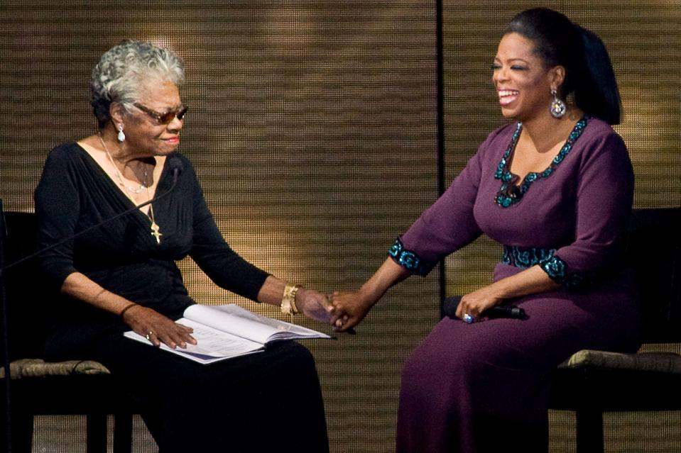 Maya Angelou, Oprah Winfrey, friendship, mentorship, connection, support, wellness