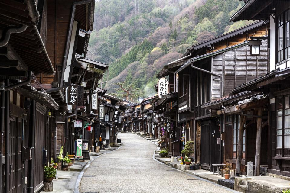 Nakasendo at Narai Juku - The Gokaido highways were...