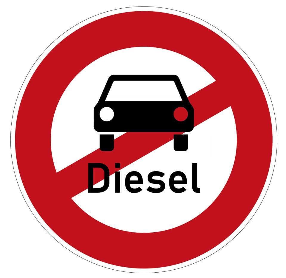 German Traffic Sign ″dieselfahrverbot″