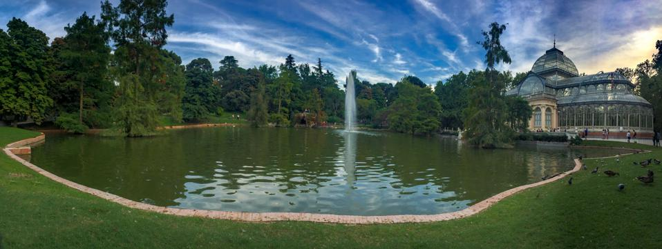 El Retiro Park in Madrid Spain