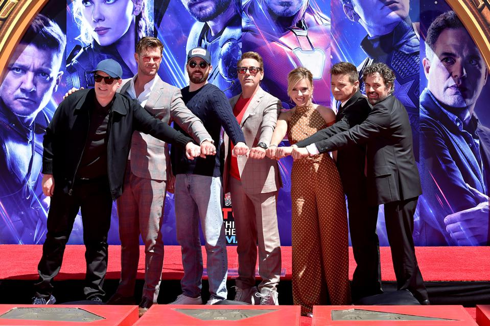 Marvel Studios' ″Avengers: Endgame″ Cast Place Their Hand Prints In Cement At TCL Chinese Theatre IMAX Forecourt
