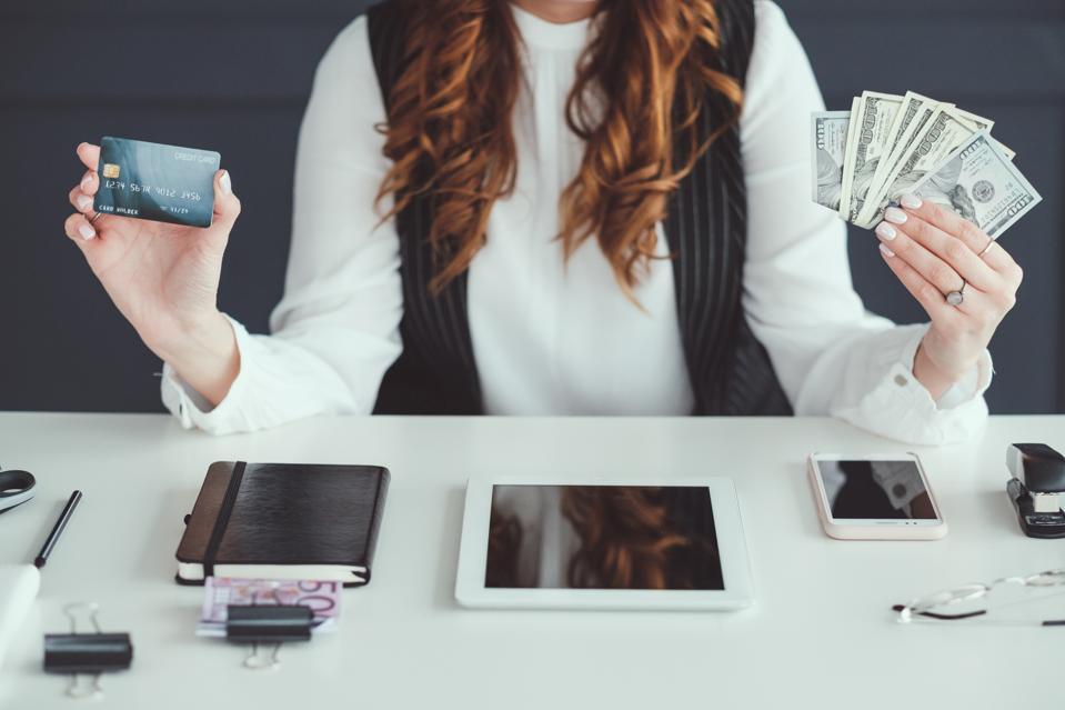 successful smm woman money business work profit