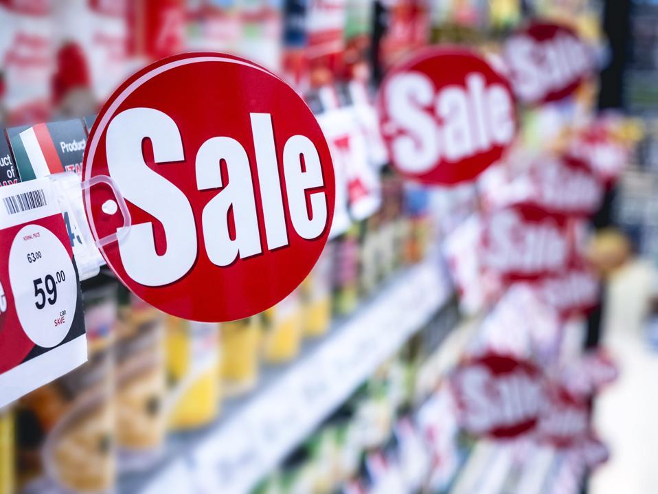 Sale signage Supermarket shelf Marketing Promotion Discount