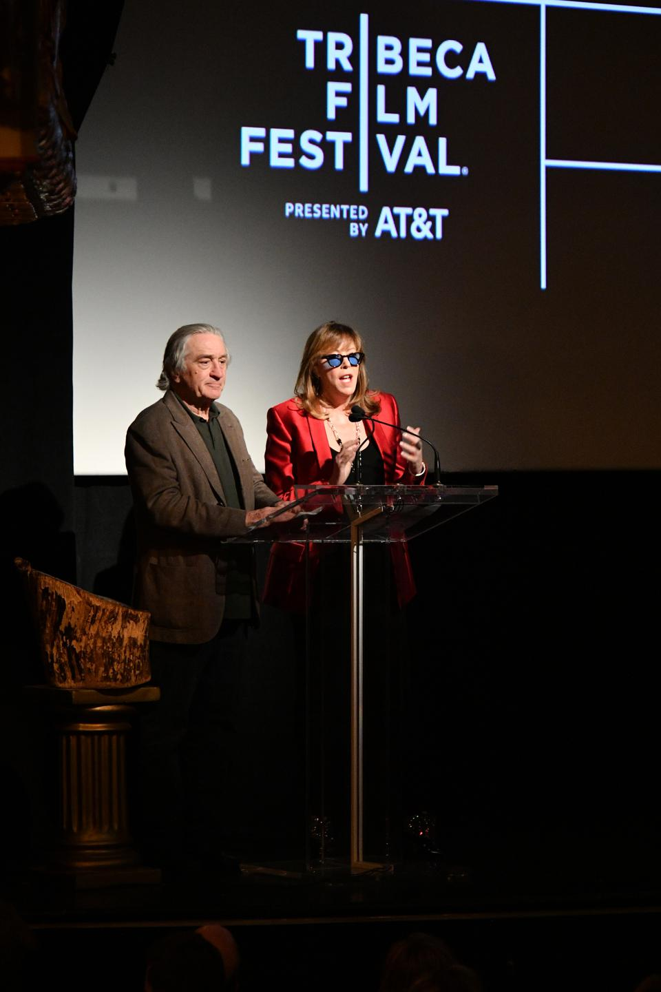 Co-founder, CEO, and executive chair of Tribeca Enterprises Jane Rosenthal and Robert De Niro (Photo by Dia Dipasupil/Getty Images for Tribeca Film Festival)