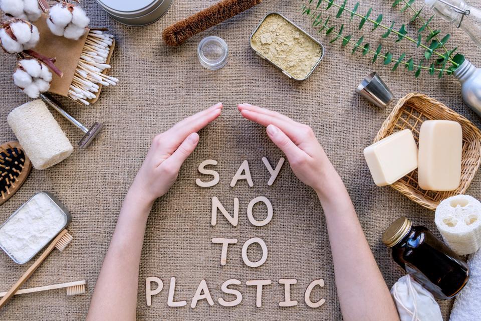 Plastic free natural bathroom items