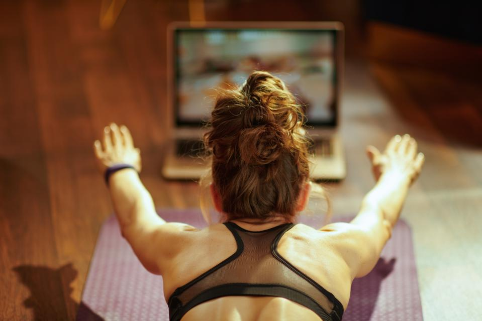 Virtual work outs - the way today and the future, too maybe.