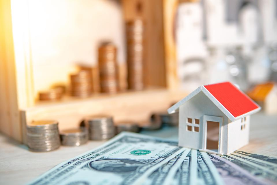 Property or real estate investment concept. Home mortgage loan rate.