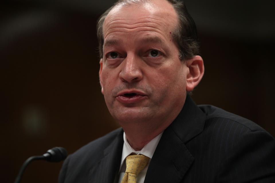 Labor Secretary Alexander Acosta Testifies At Senate Appropriations Hearing