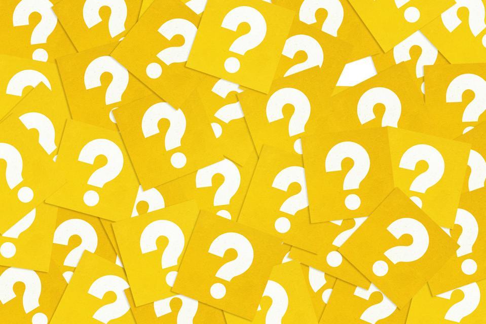 Paper concept ″Question Mark Symbol″