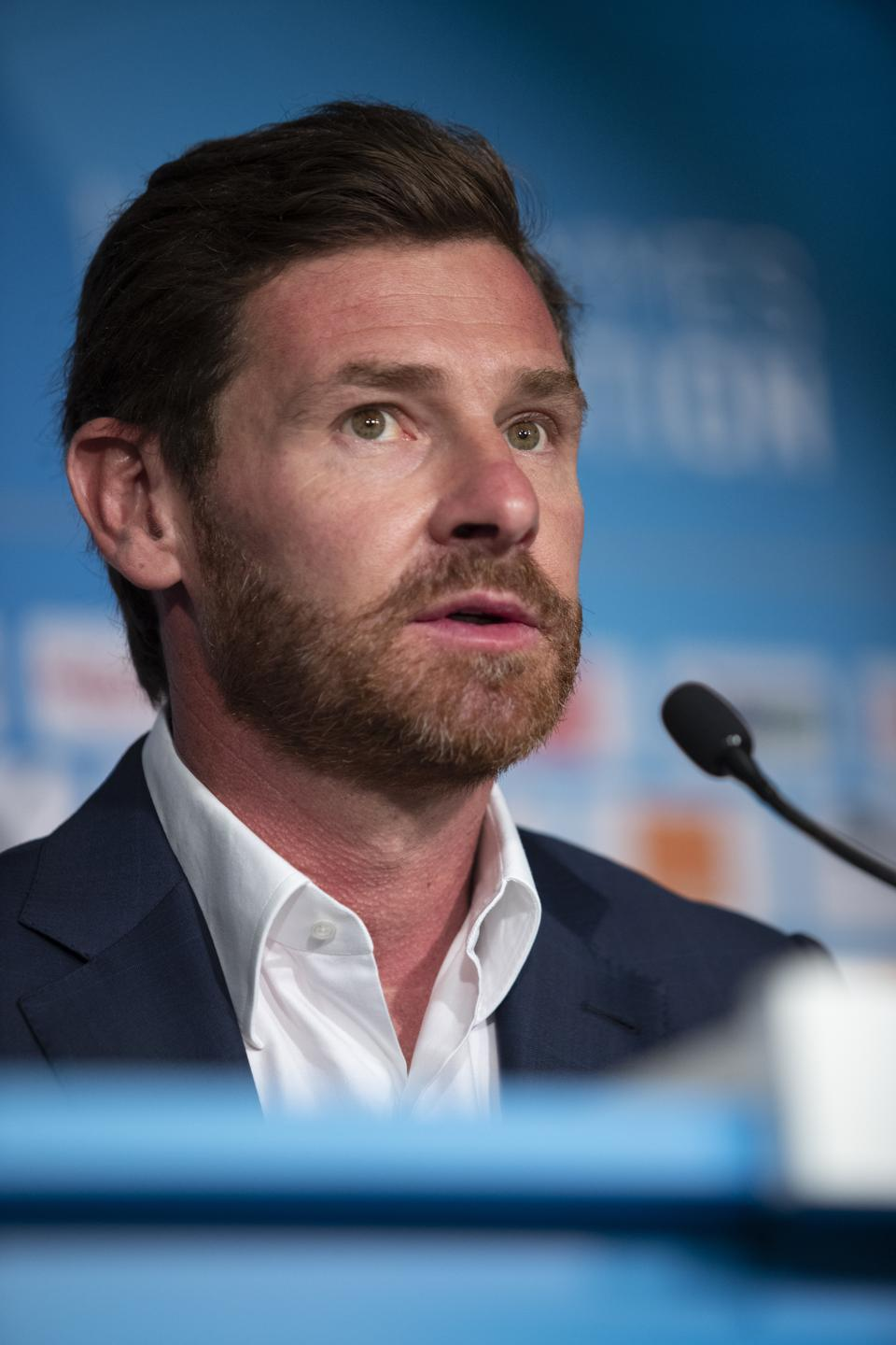 New Olympique de Marseille Coach Andre Villas-Boas Press Conference...