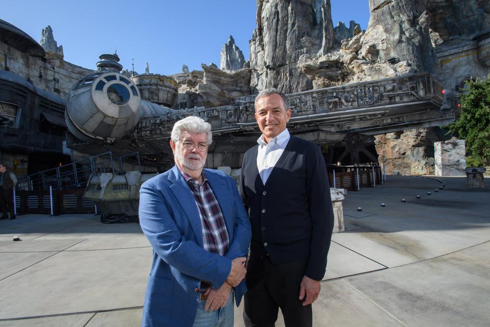 Bob Iger And George Lucas Visit Disneyland