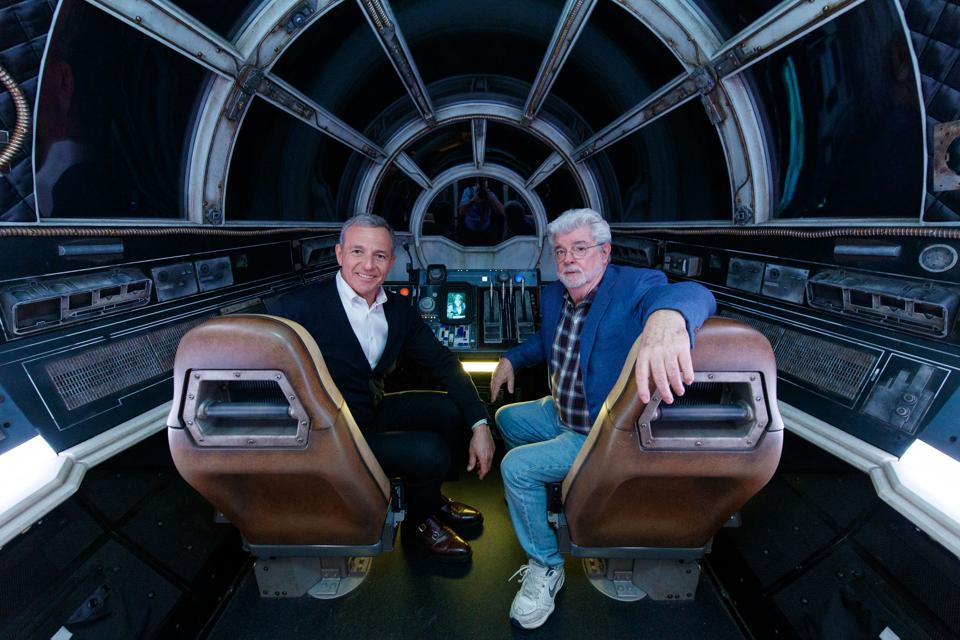 Bob Iger And George Lucas Visit Disneyland