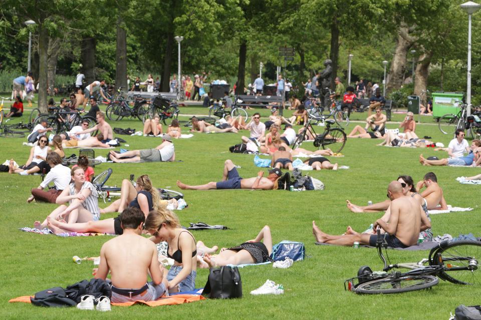 Hot Spring Day In Amsterdam