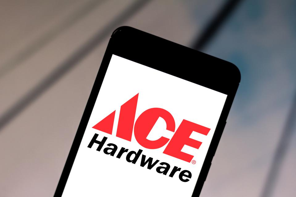 In this photo illustration a Ace Hardware Corporation logo...