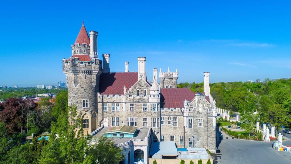 Aerial view of Casa Loma coronavirus virtual travel Toronto