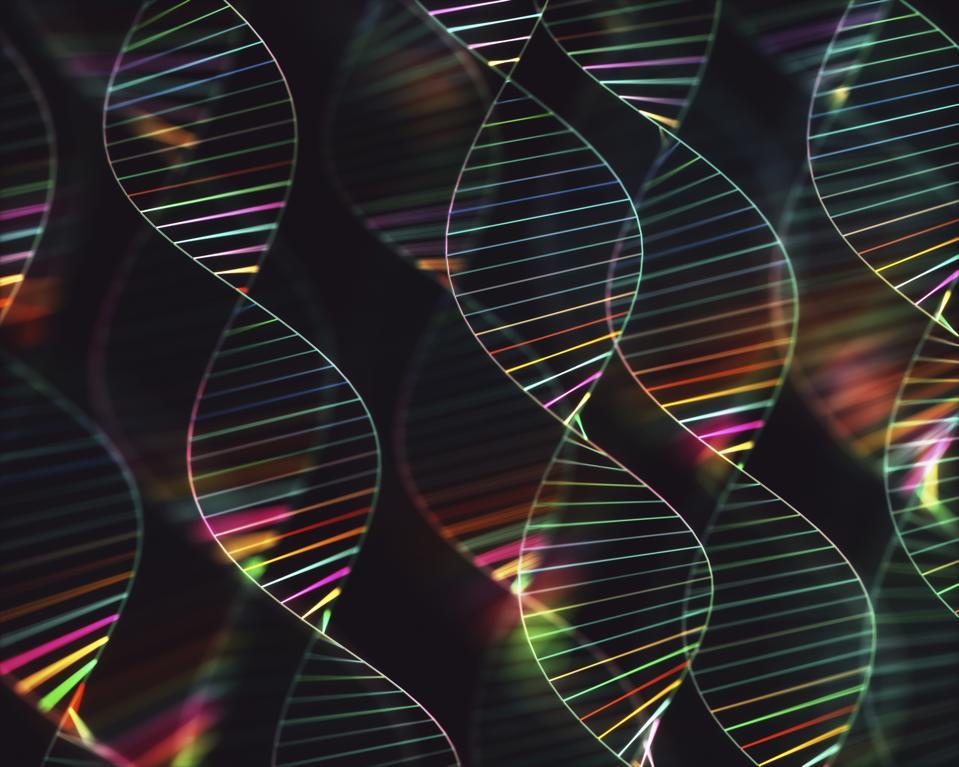An illustration of DNA molecules
