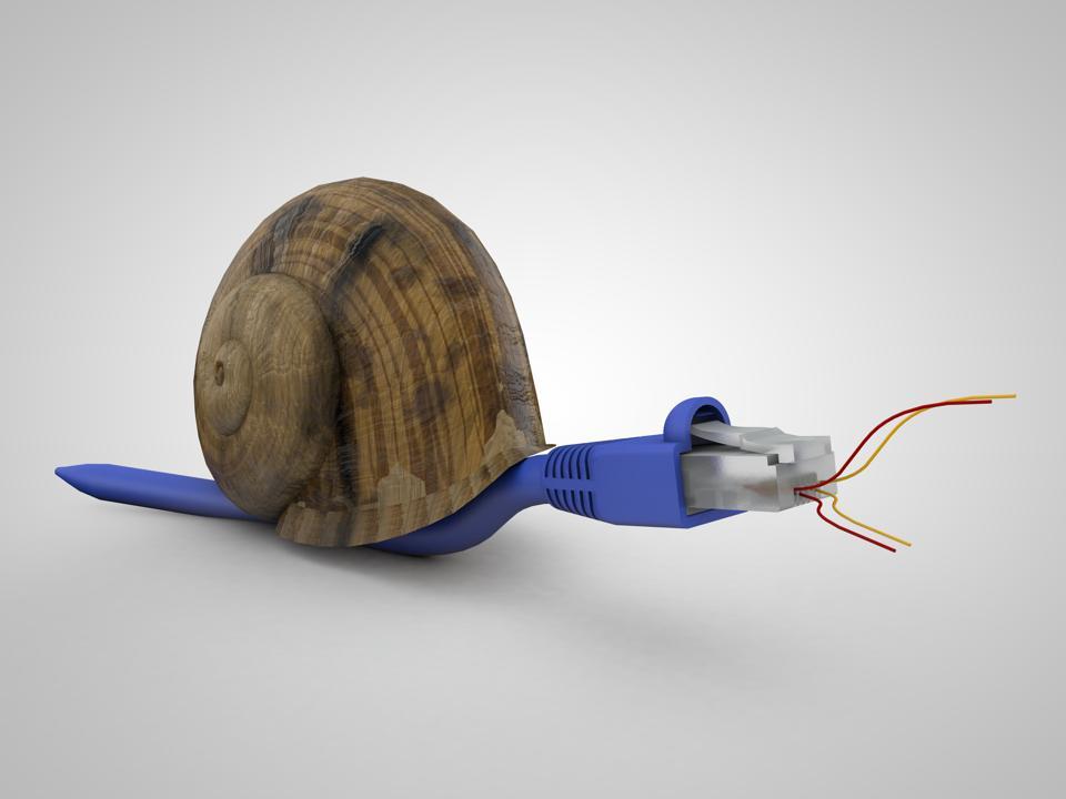 3D render of Slow internet concept
