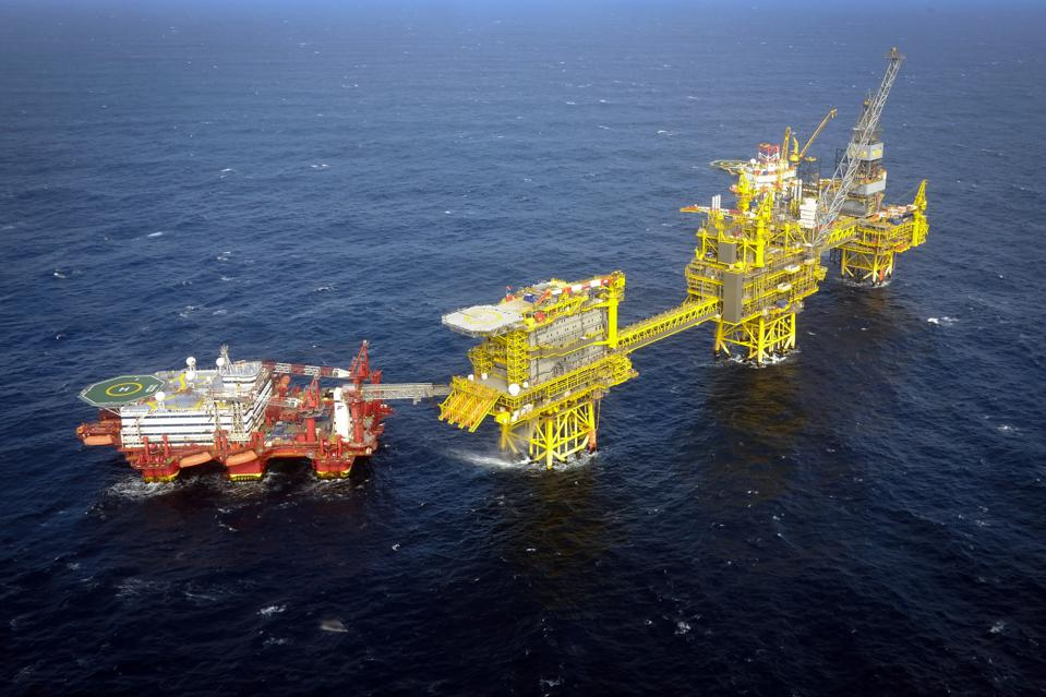 The Total Culzean gas platform in the North Sea.