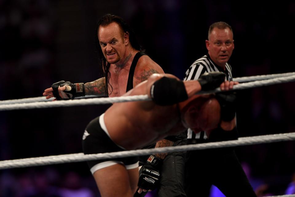 WWE star The Undertaker vs. Goldberg