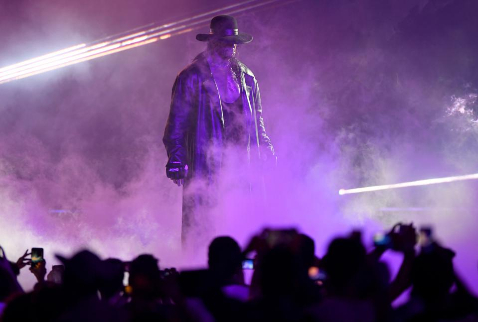 WWE star The Undertaker makes his entrance