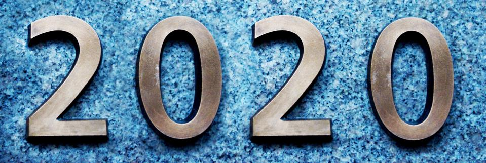 Numbers of year 2020, new decade of 21st century