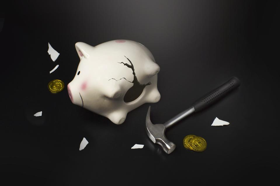 Insecurity sense of personal financial conceptual image.