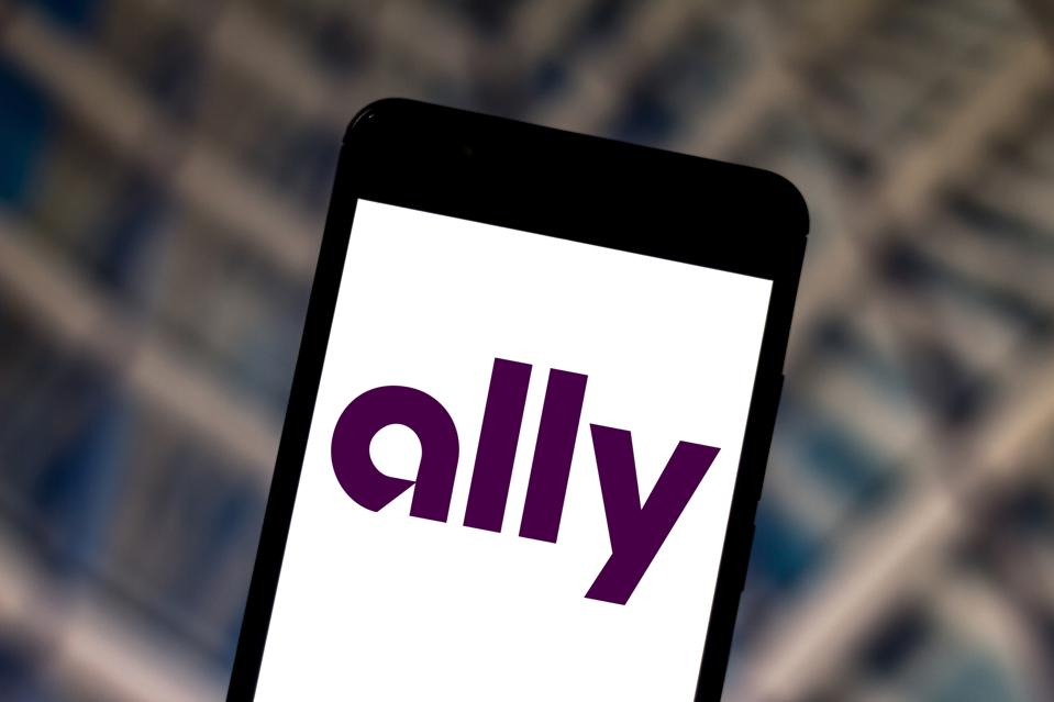 Ally Bank logo on a smartphone