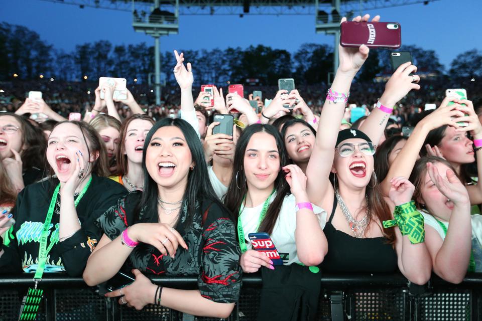 Fans at a Billie Eilish concert