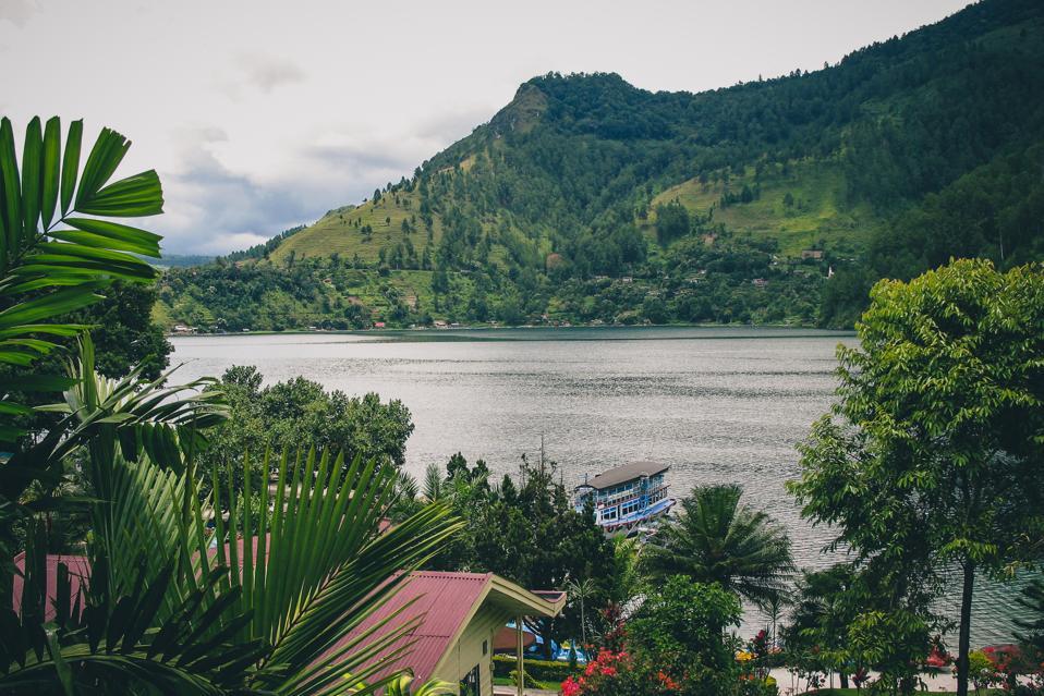Lake toba from Parapat.