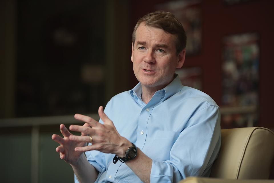 Michael Bennet Campaigns in Sioux City, Iowa. Photo by Scott Olson/Getty Images.