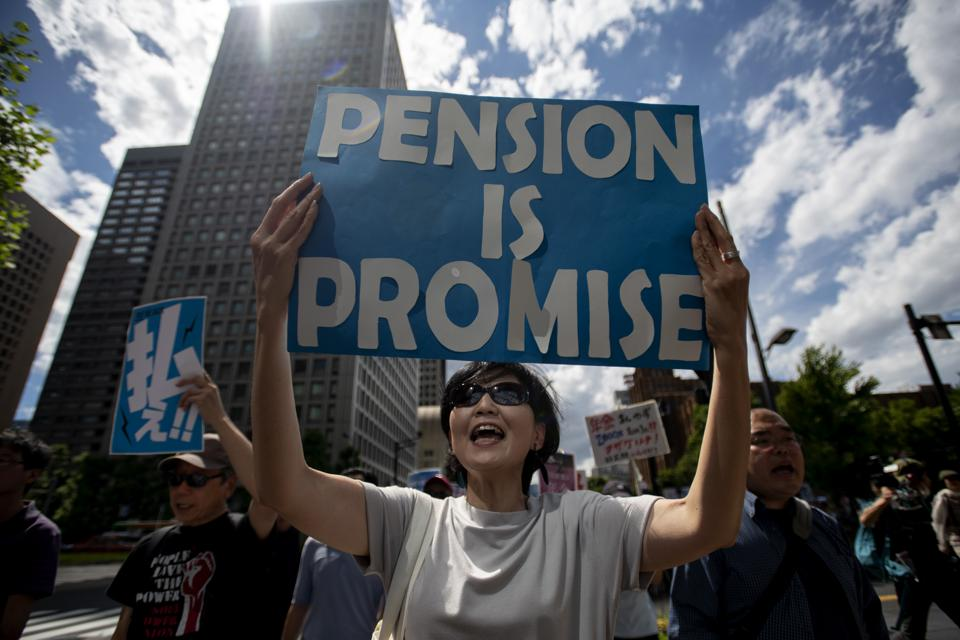 Demonstration For The Protection Of Pensions In Tokyo