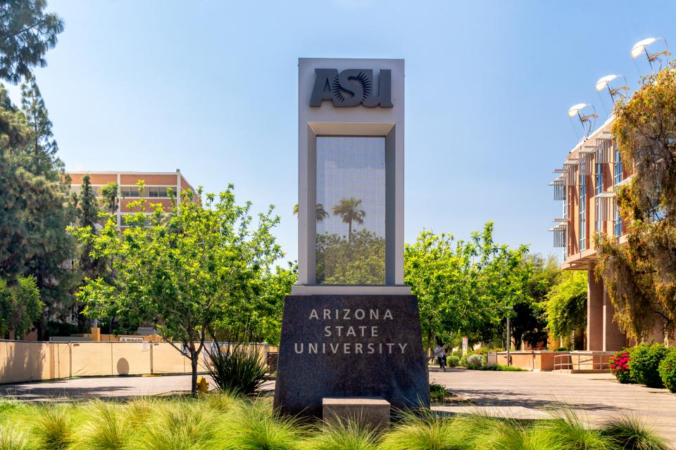 Entrance Sign to Arizona State University Business School MRED