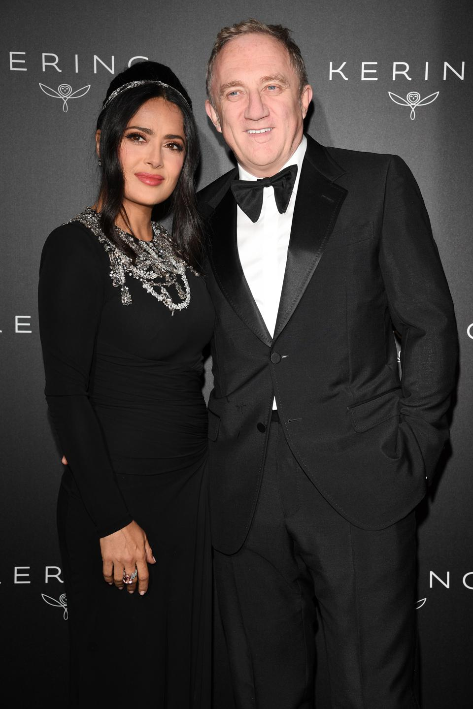 Kering And Cannes Film Festival Official Dinner - Salma Hayek Francois-Henri Pinault