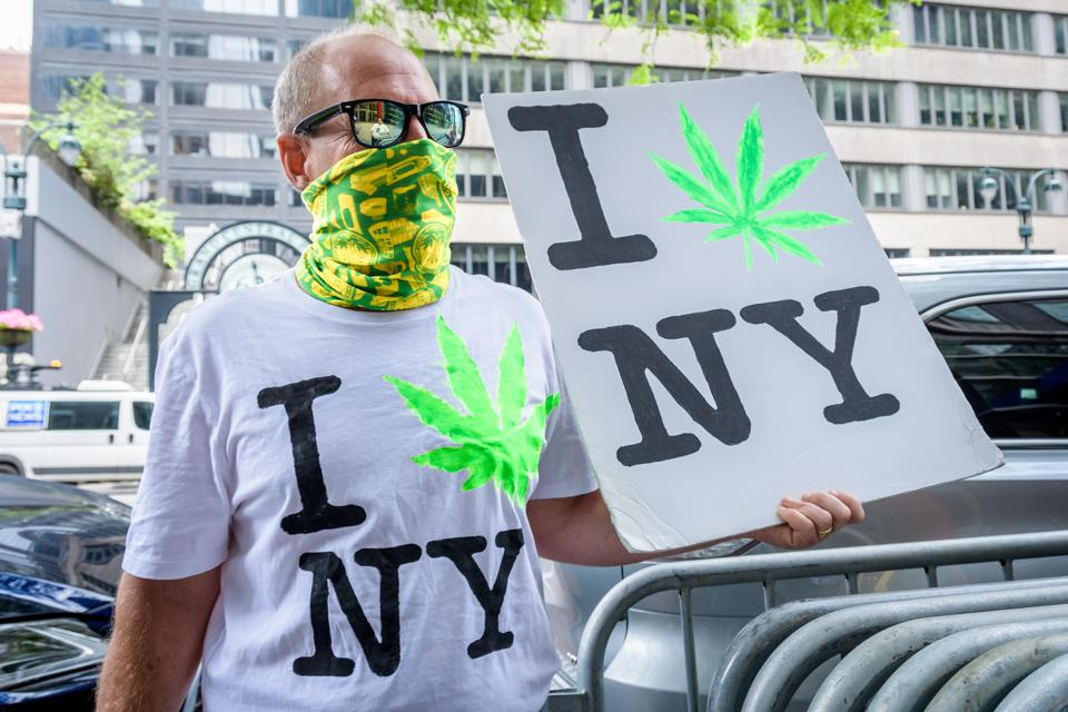 A marijuana rally calls for legalization of cannabis in the state.