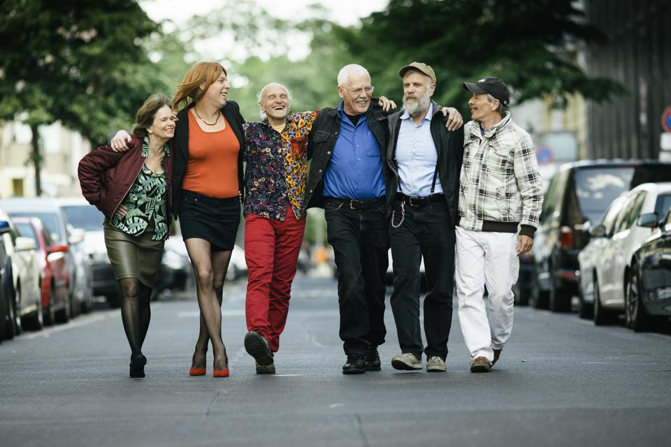 Group of Senior and Middel age Queer People
