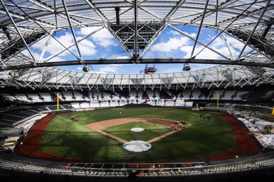 MLB Pitch Preparations - London Stadium