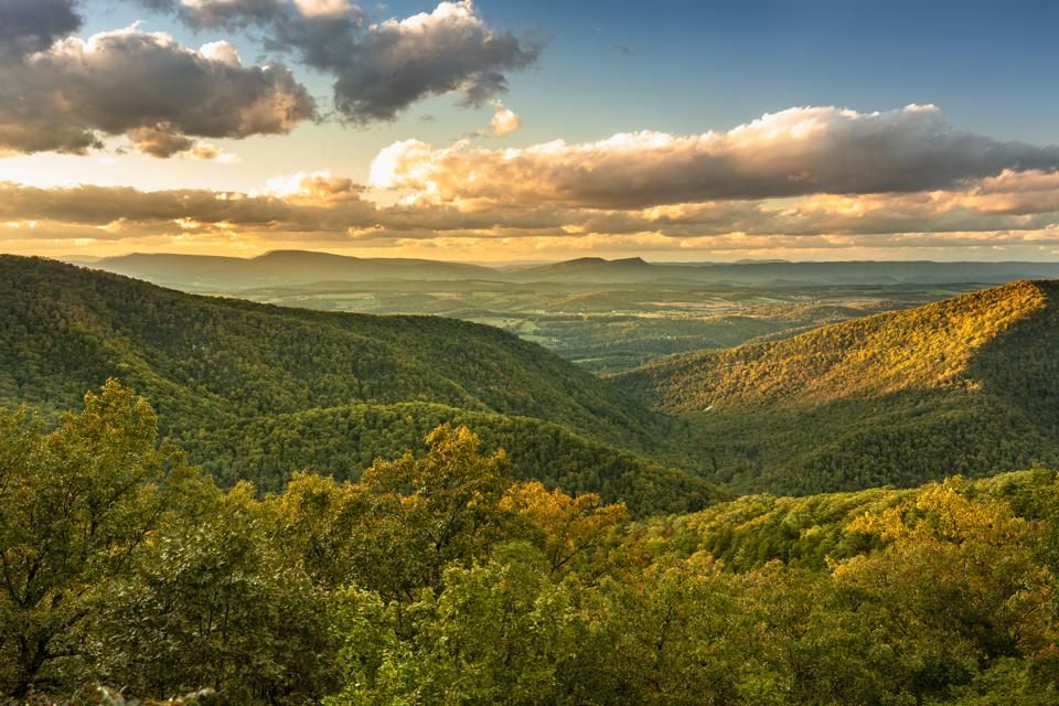 Blue Ridge Mountains scenic vista view