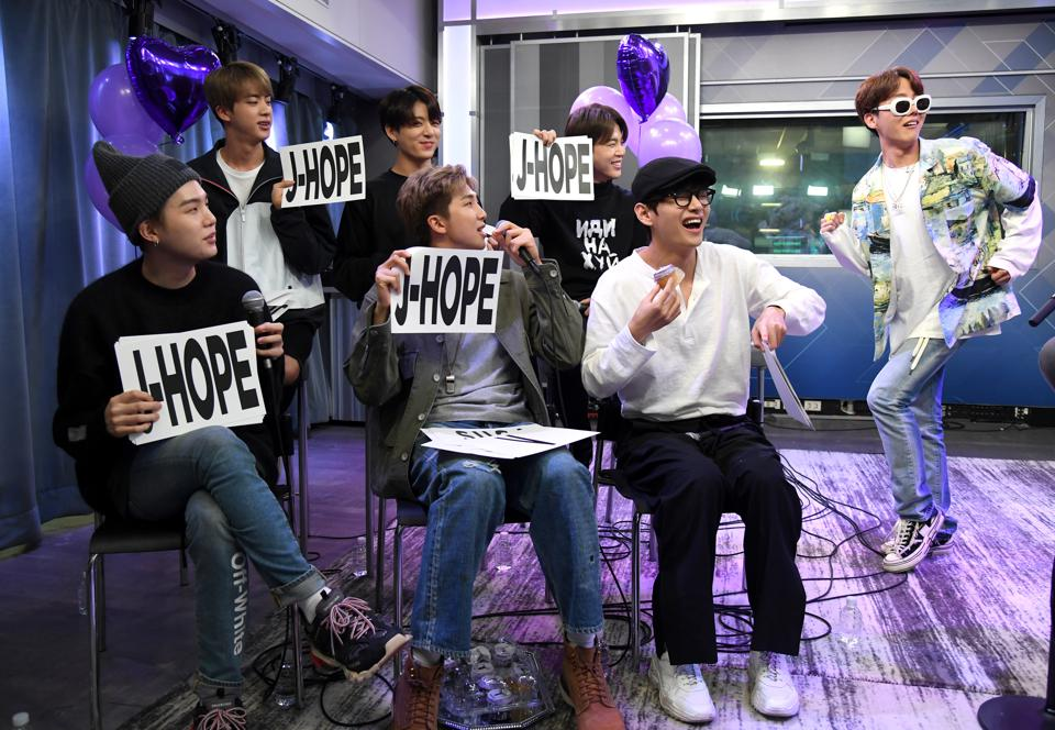 BTS Visits ″The Morning Mash Up″ On SiriusXM Hits 1 Channel At The SiriusXM Studios In New York City