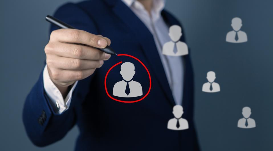 Marketing segmentation and leader; business concept