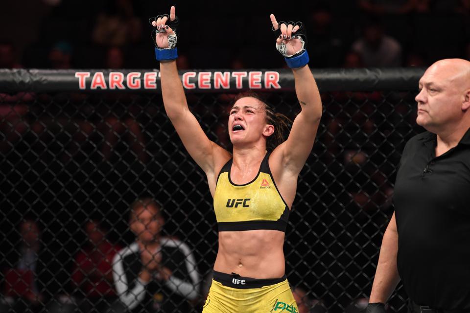 Amanda Ribas faces Paige VanZant on tonight's UFC 251 pay-per-view card.